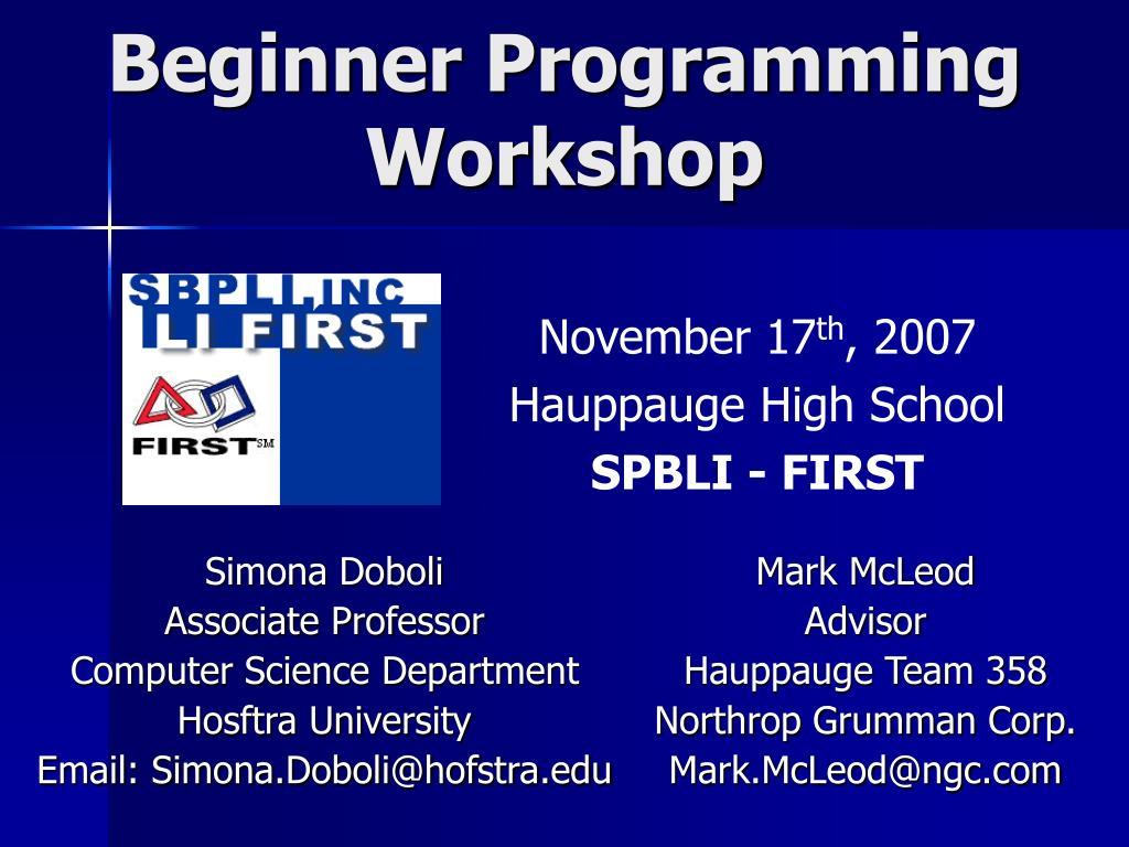 Beginner Programming