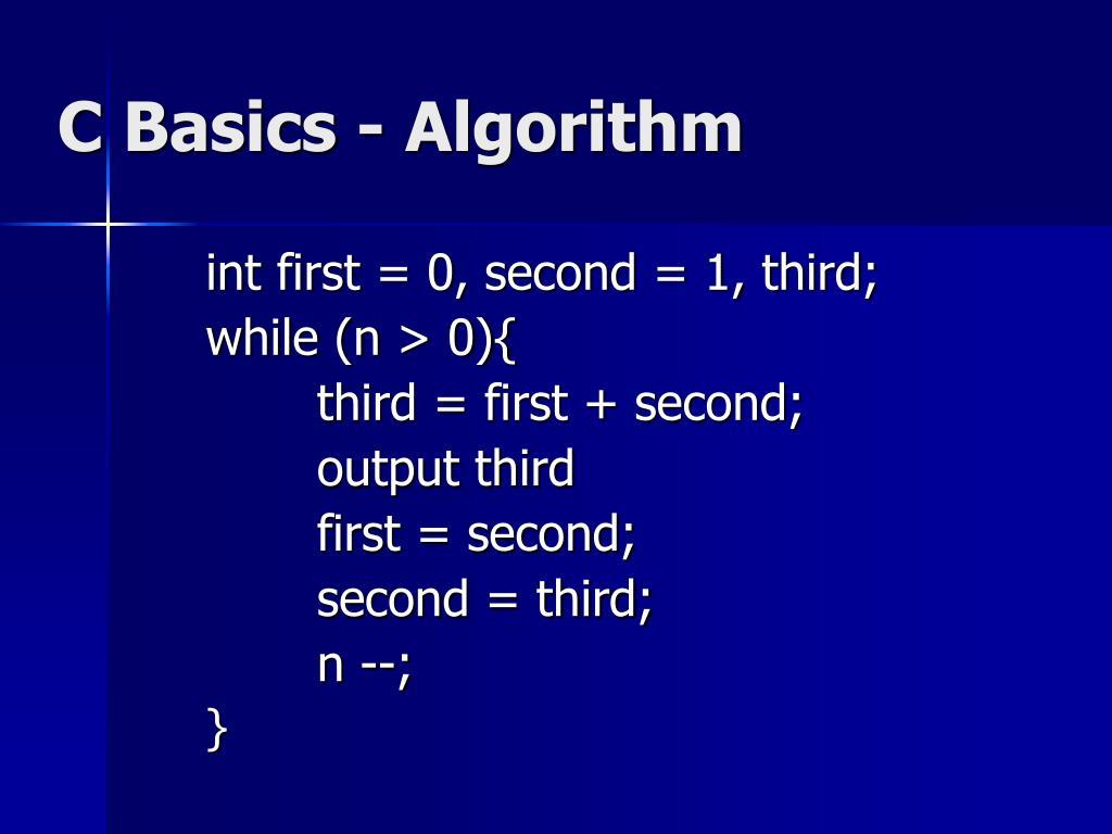 C Basics - Algorithm