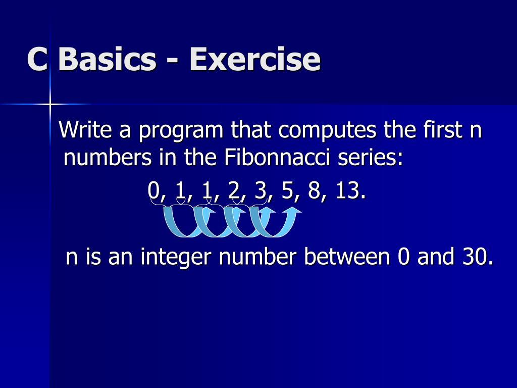 C Basics - Exercise