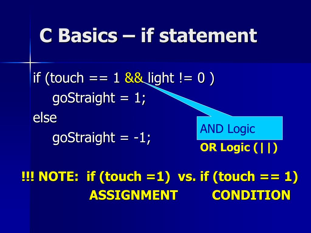 C Basics – if statement