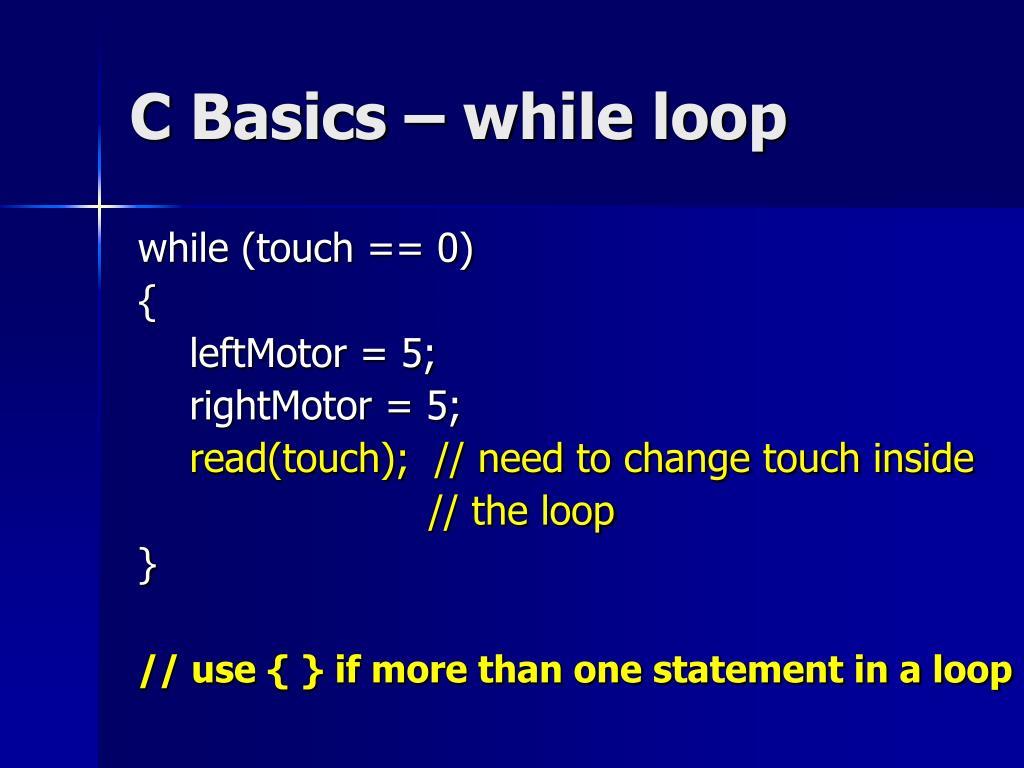 C Basics – while loop