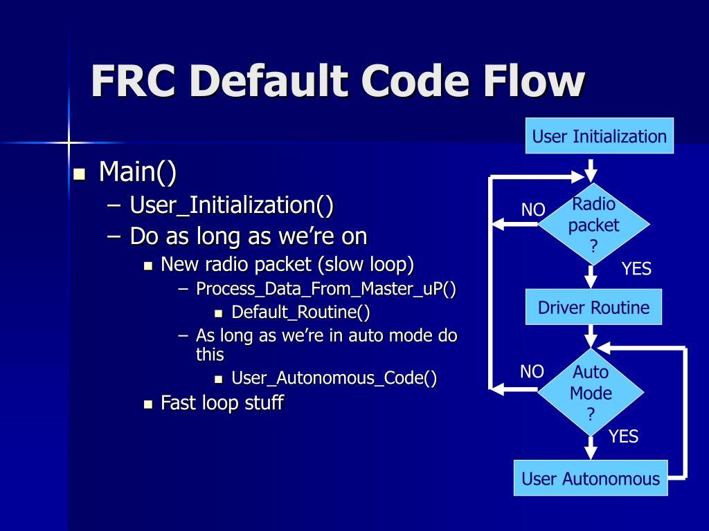 FRC Default Code Flow