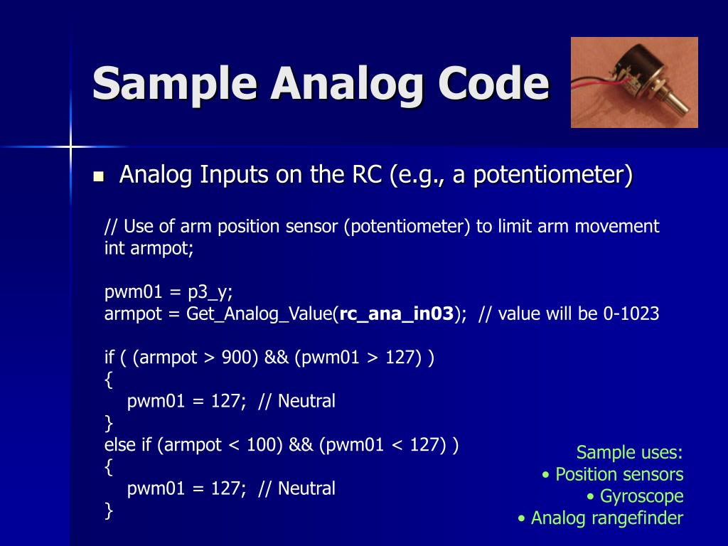 Sample Analog Code