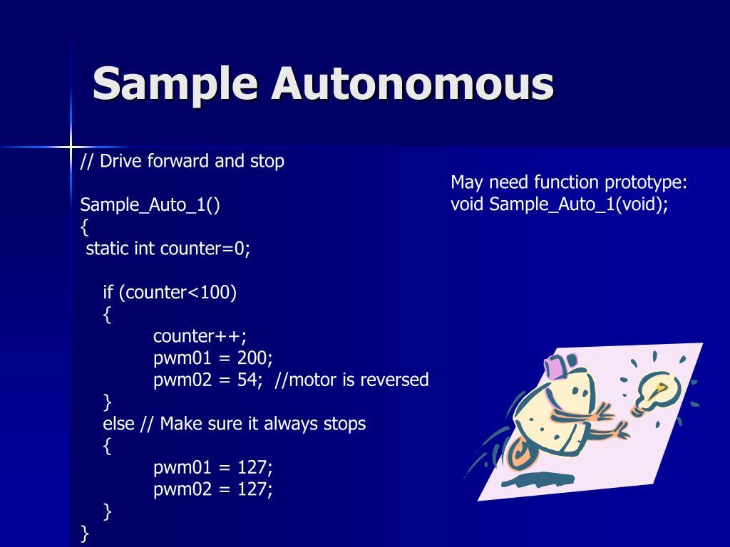 Sample Autonomous