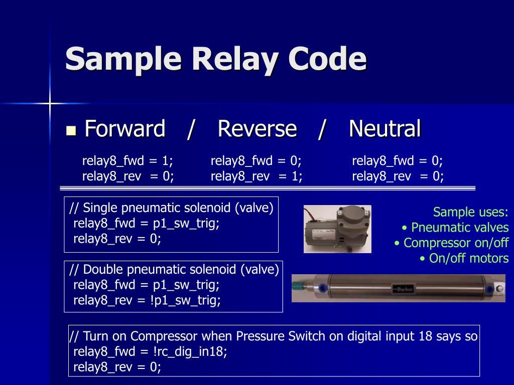 // Single pneumatic solenoid (valve)