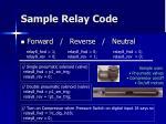 sample relay code