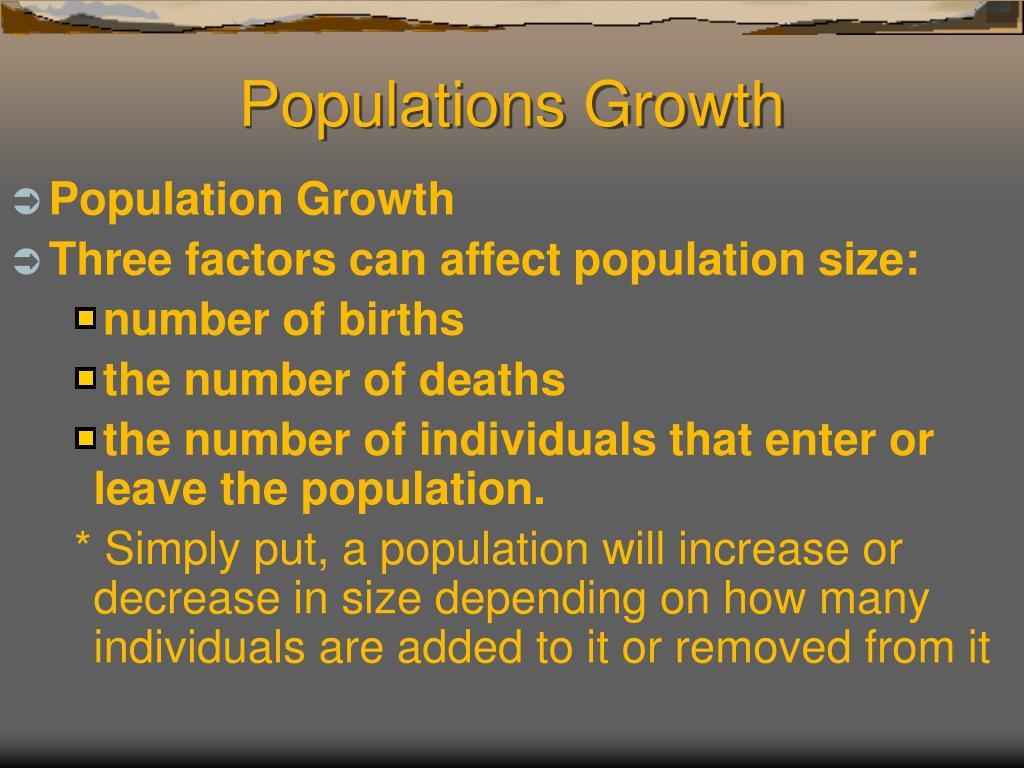 Populations Growth