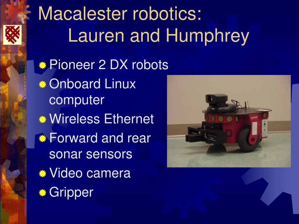 Macalester robotics: