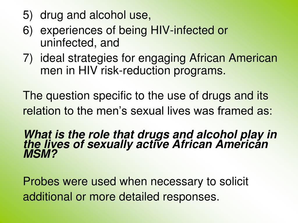 drug and alcohol use,