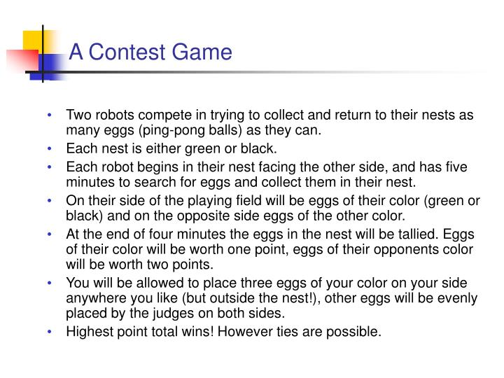 A Contest Game