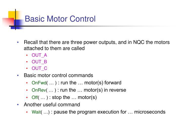 Basic Motor Control