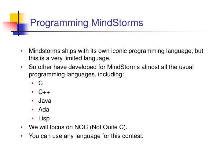 Programming MindStorms