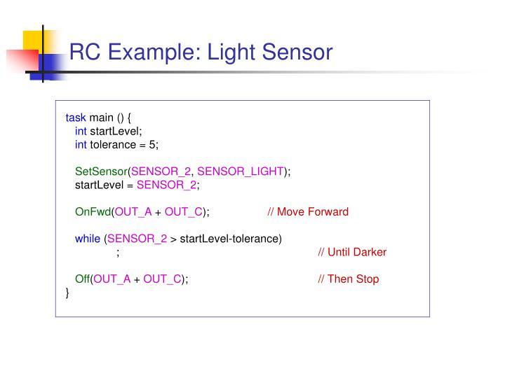 RC Example: Light Sensor
