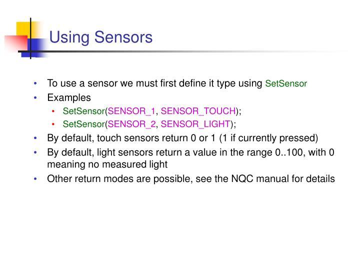 Using Sensors