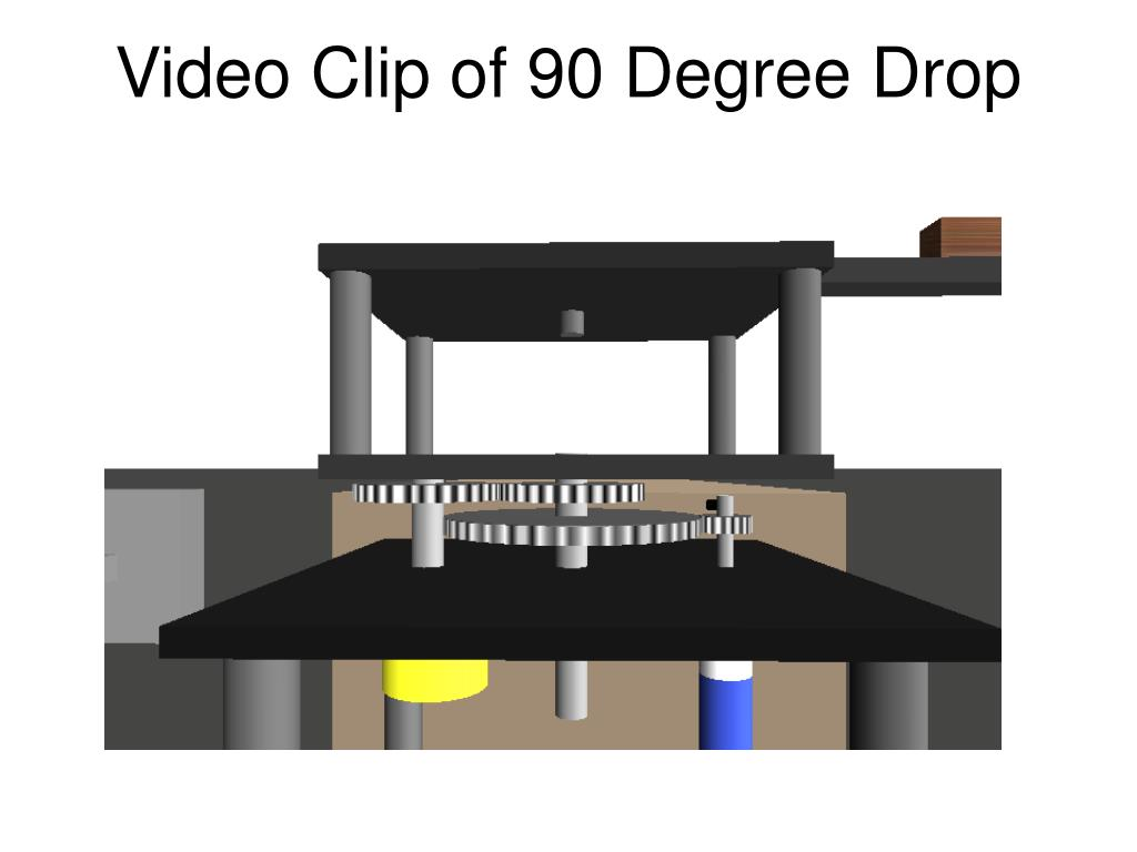 Video Clip of 90 Degree Drop