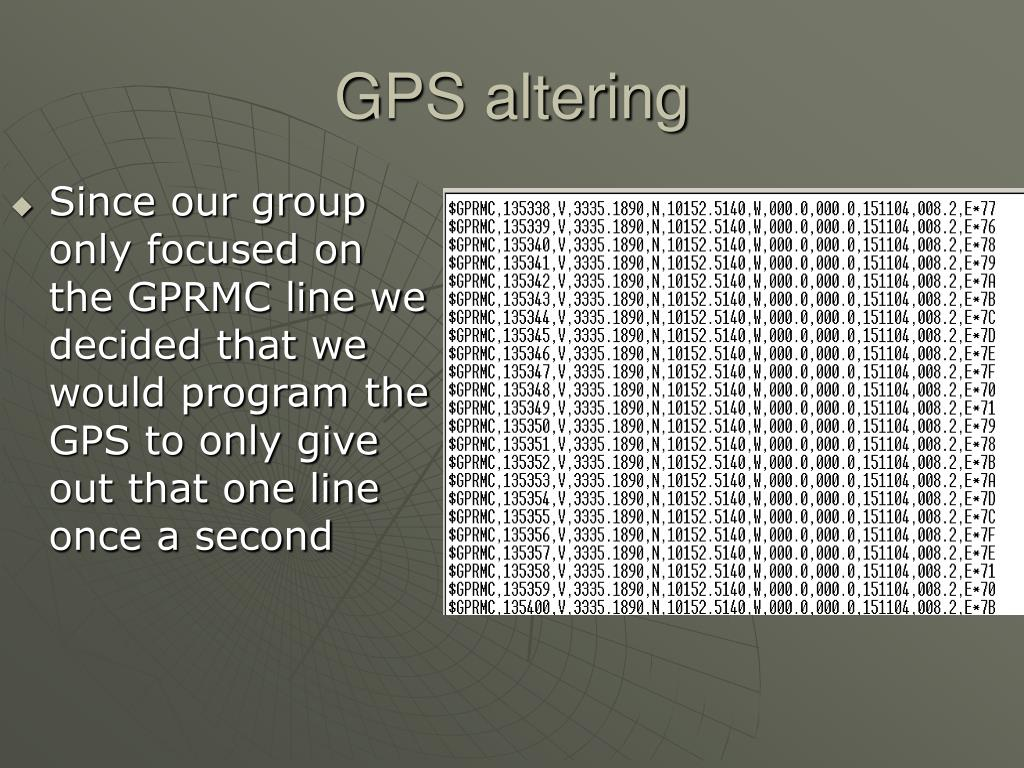 GPS altering