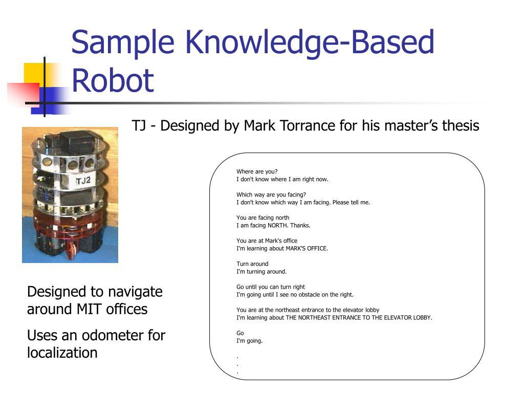 Sample Knowledge-Based Robot