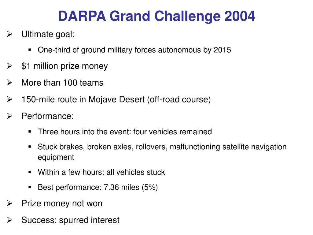 DARPA Grand Challenge 2004