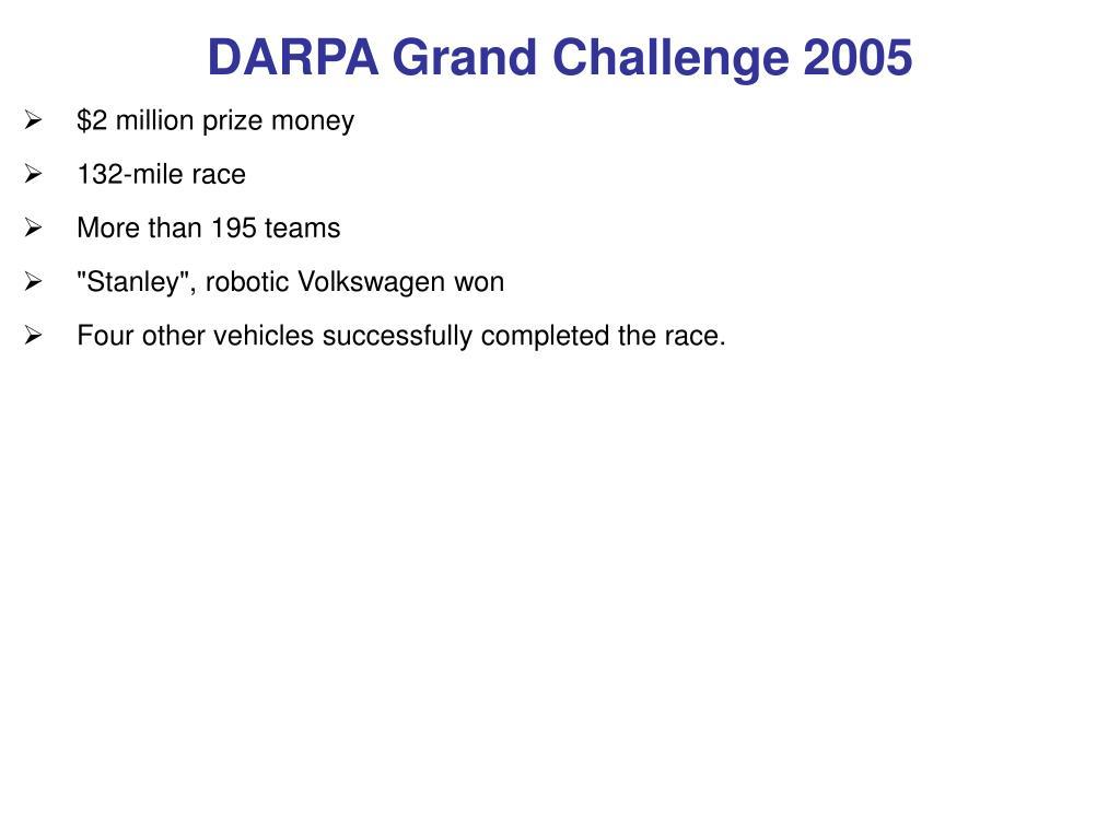 DARPA Grand Challenge 2005