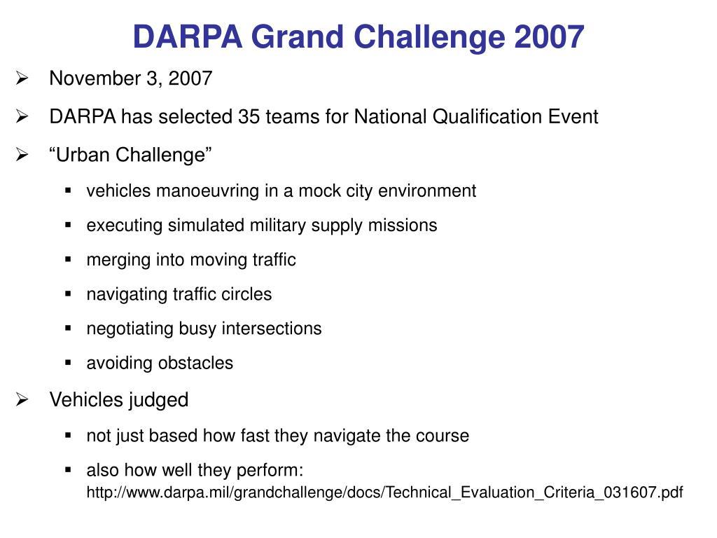 DARPA Grand Challenge 2007