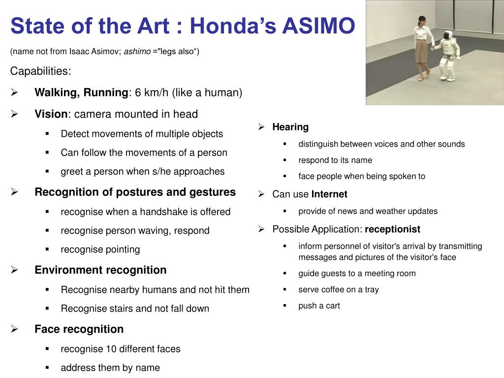 State of the Art : Honda's ASIMO