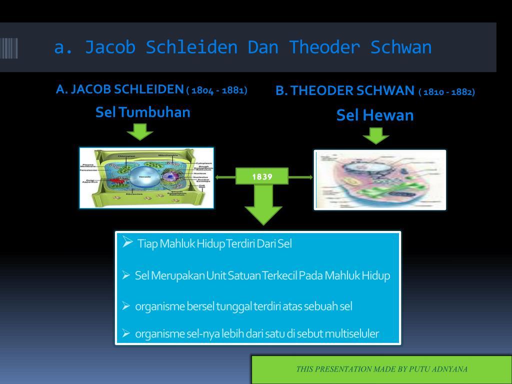 a. Jacob Schleiden Dan Theoder Schwan