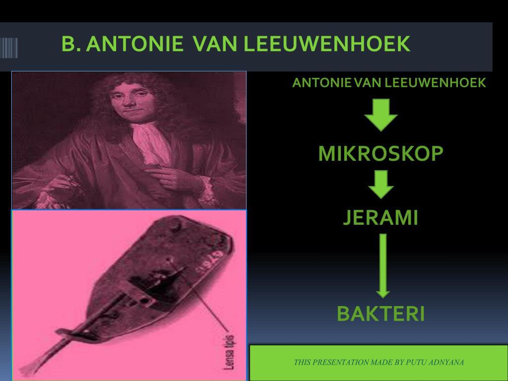 B. ANTONIE  VAN LEEUWENHOEK