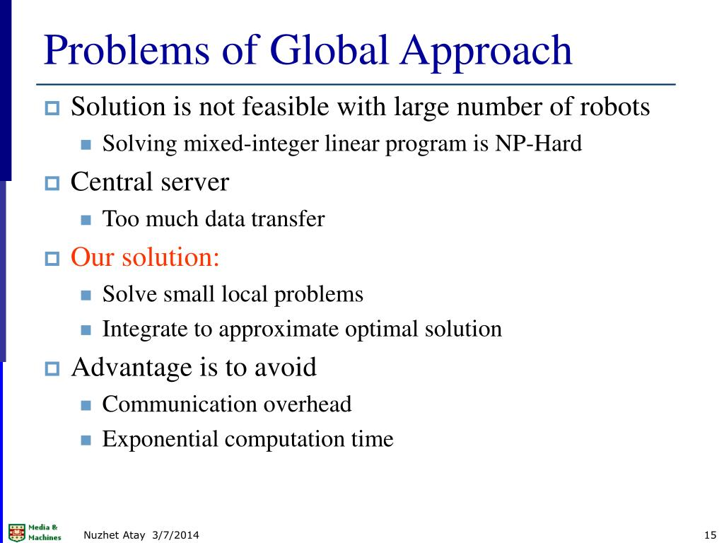 Problems of Global Approach