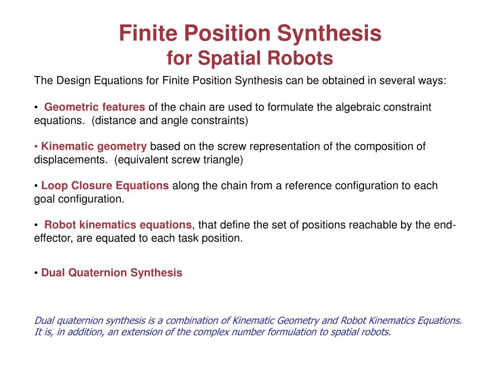 Finite Position Synthesis
