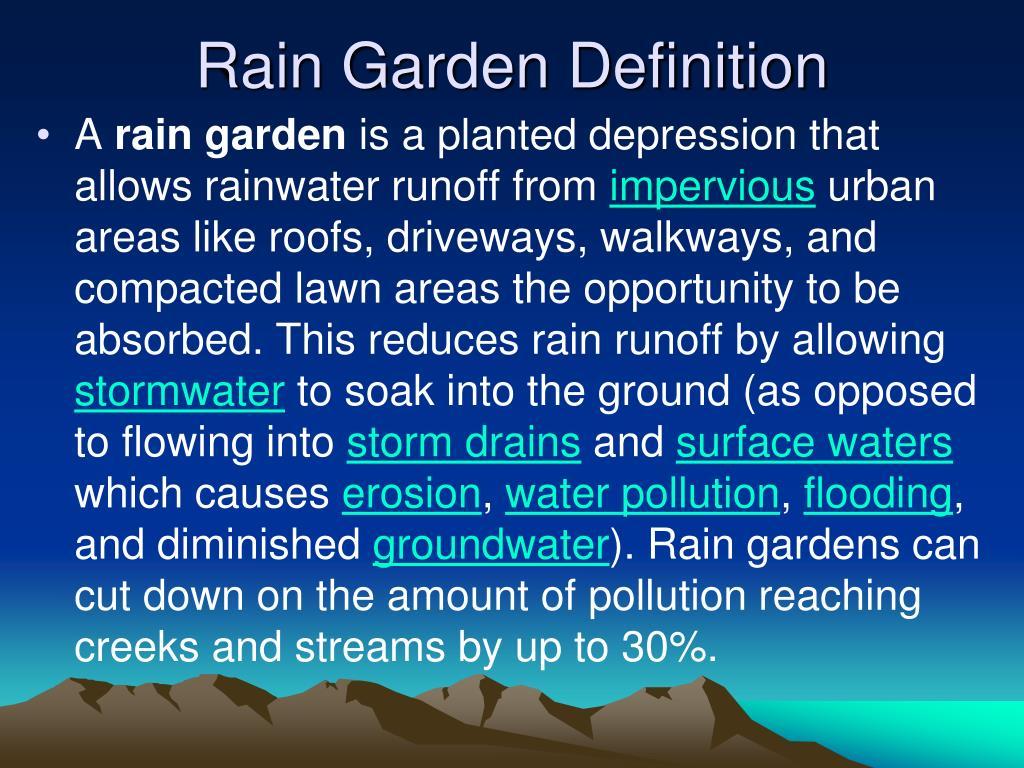 Rain Garden Definition