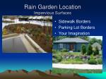 rain garden location impervious surfaces