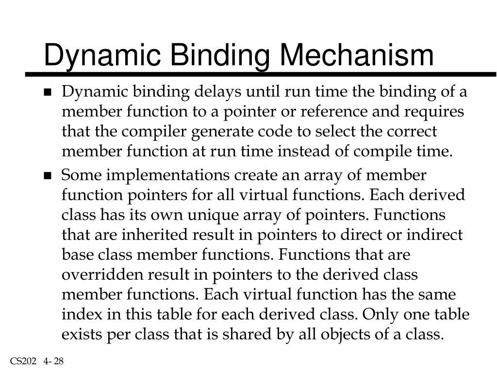 Dynamic Binding Mechanism