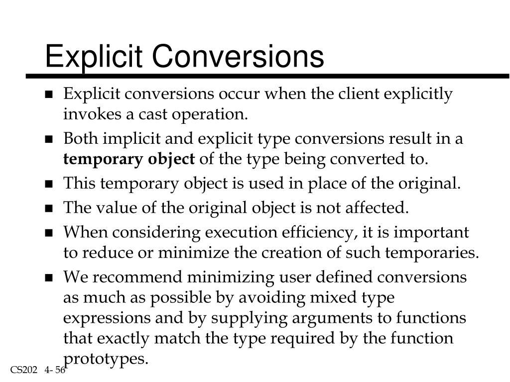 Explicit Conversions