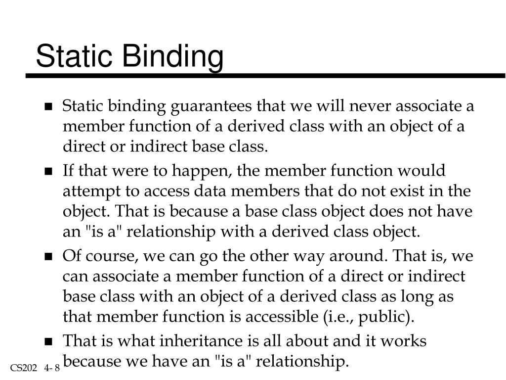 Static Binding
