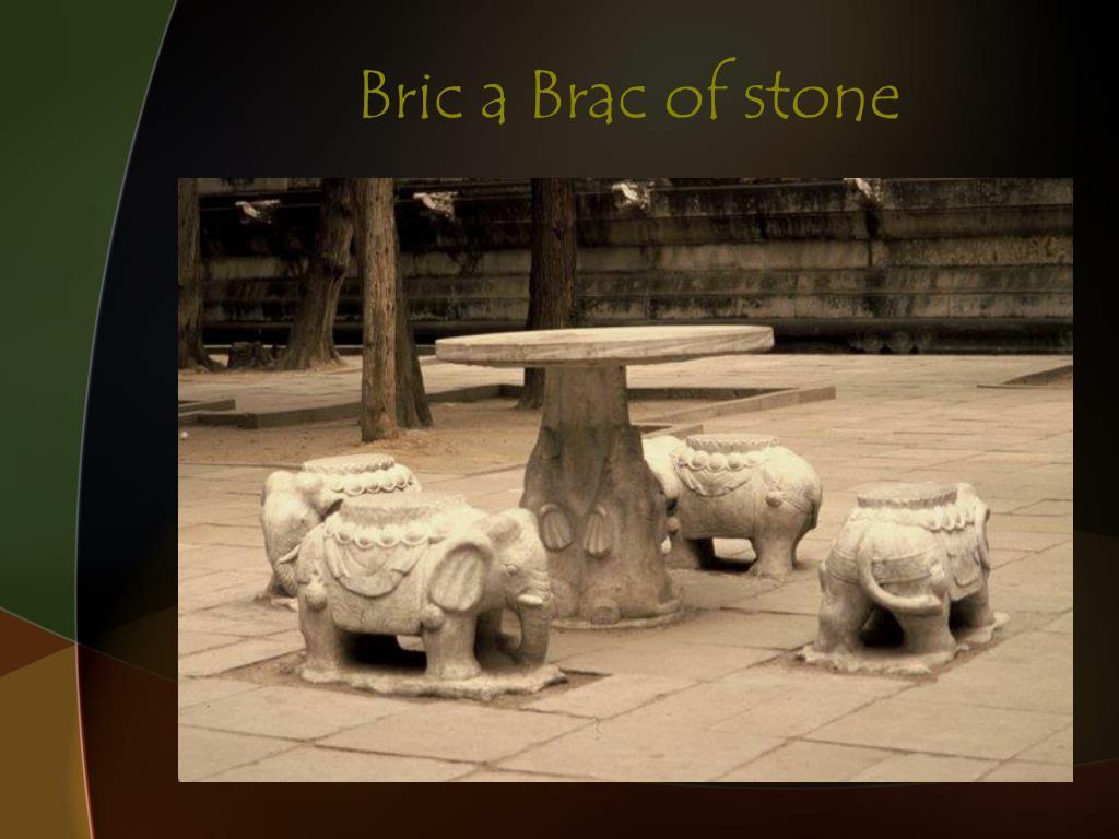 Bric a Brac of stone