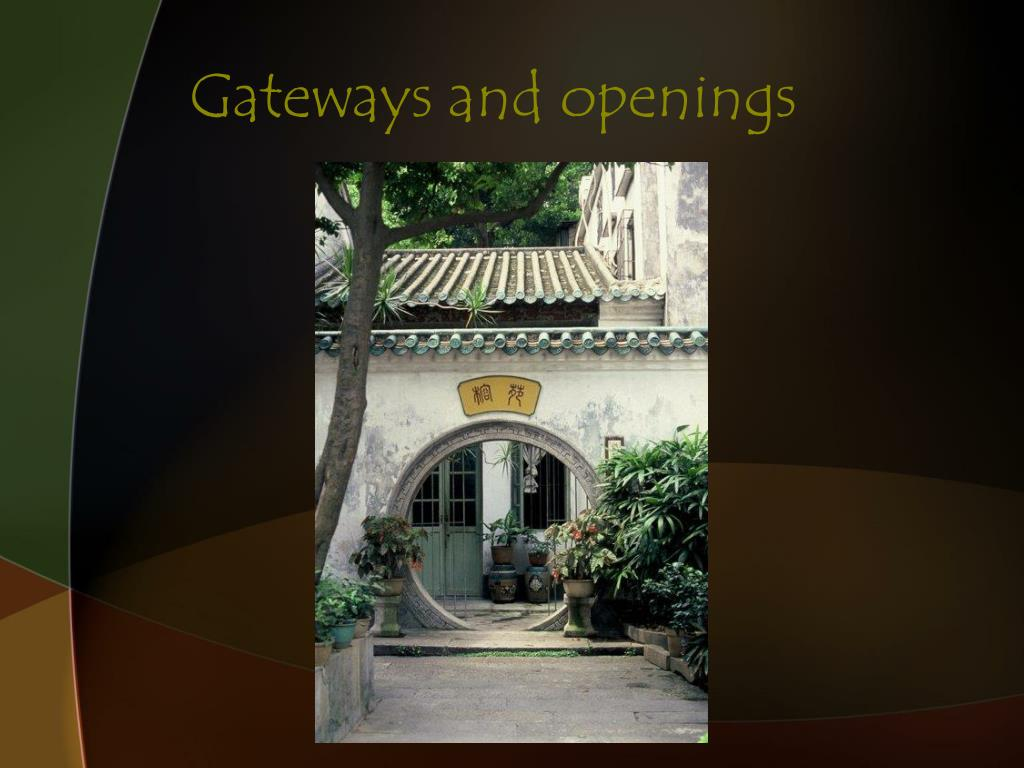 Gateways and openings