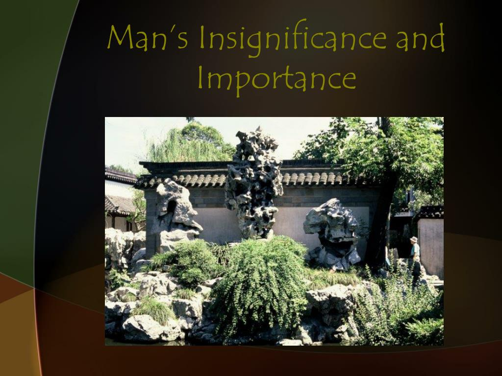 Man's Insignificance and Importance