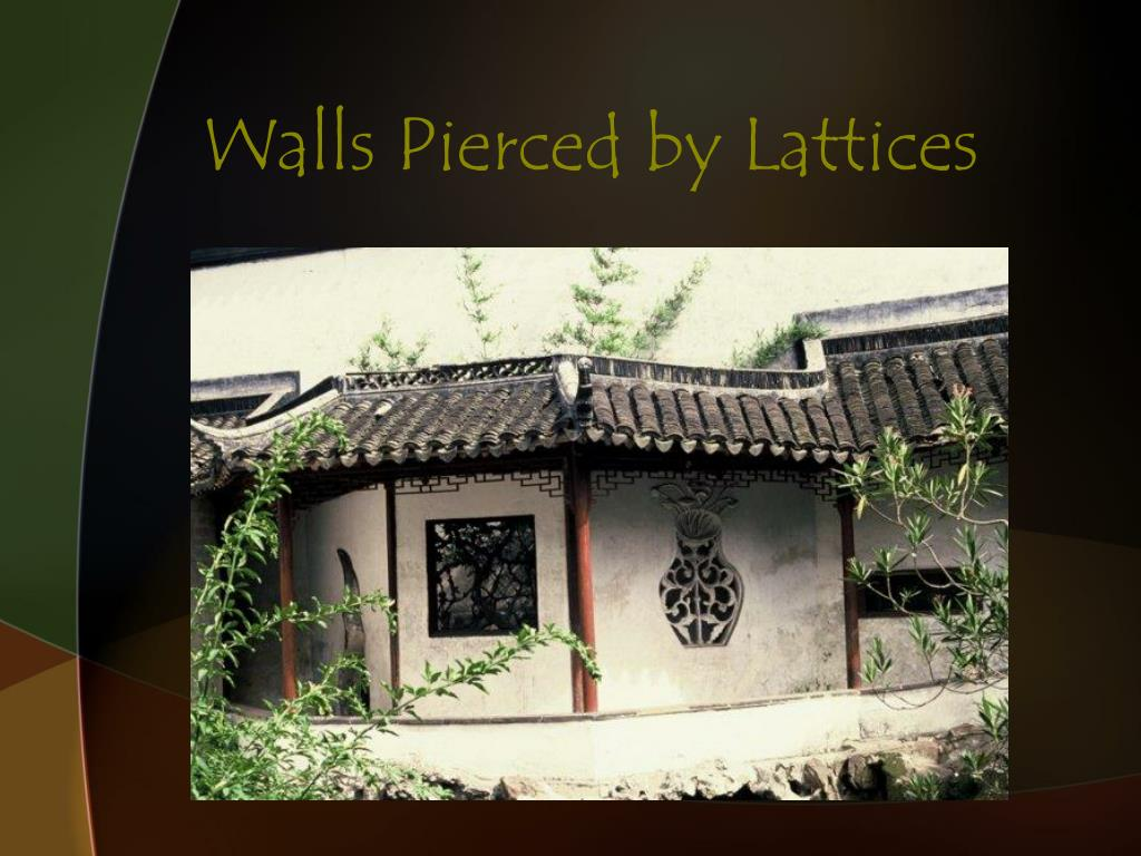 Walls Pierced by Lattices
