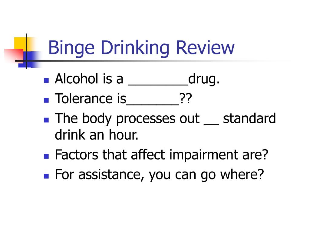 binge drinking crtical review This review examined longitudinal studies published since those earlier  the  analysis revealed similar results for binge drinking initiation.