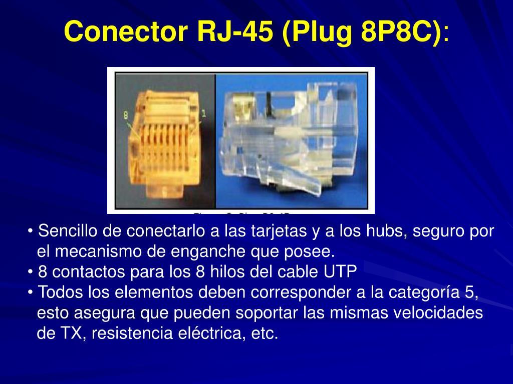 Conector RJ-45 (Plug 8P8C)