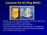 conector rj 45 plug 8p8c