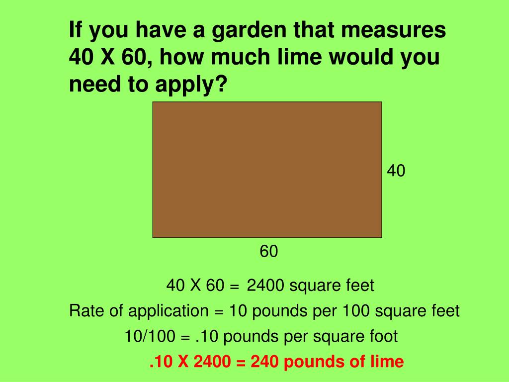 If you have a garden that measures