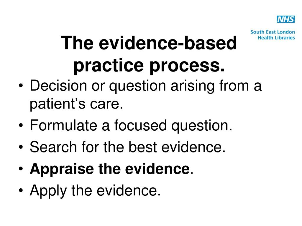 evidence based decision making discovery paper Hlt 364 evidence-based decision making and discovery paper running head: evidence-based decision making and discovery paper evidence-based decision.