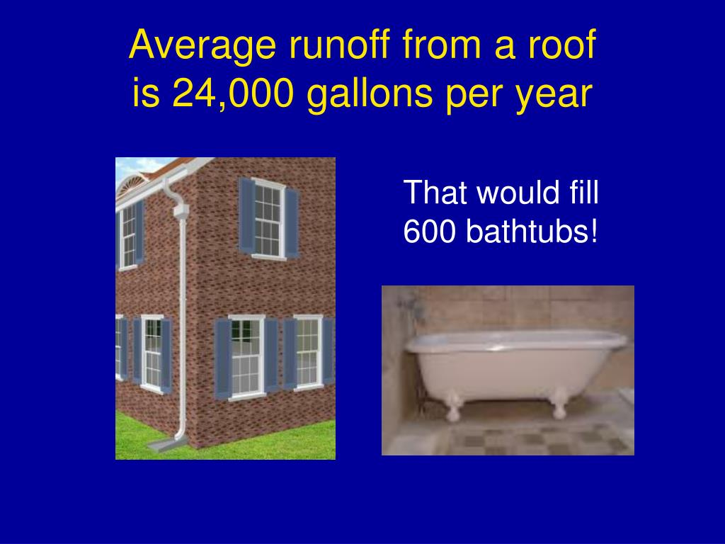 Average runoff from a roof
