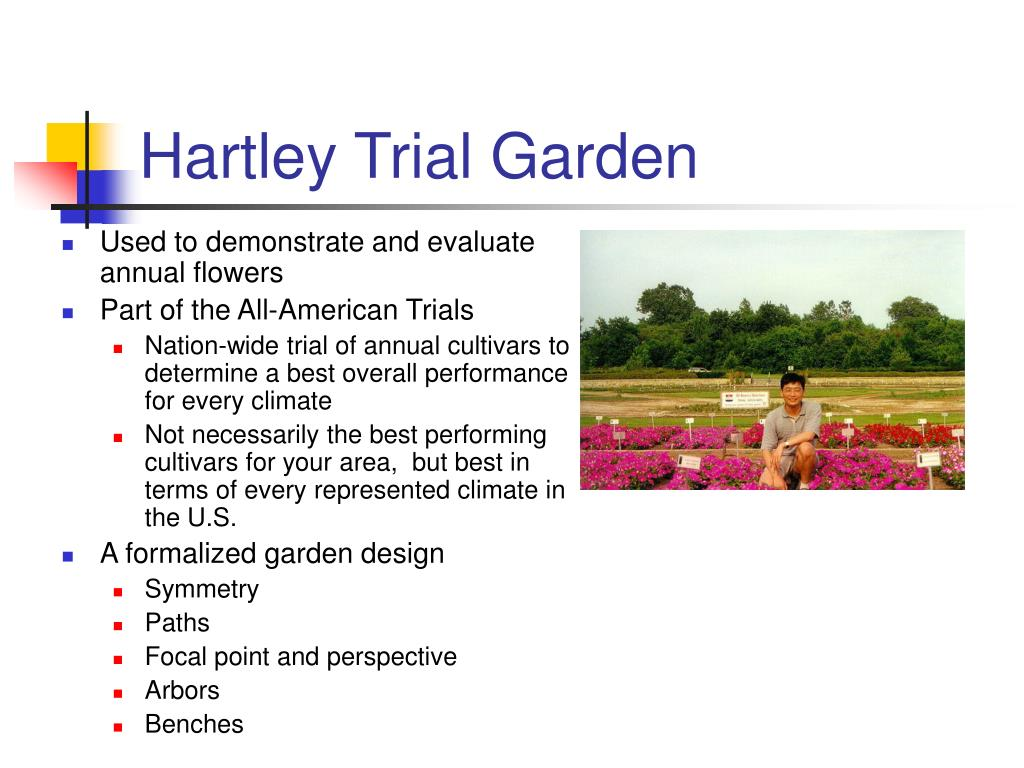 Hartley Trial Garden