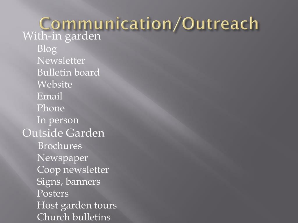 Communication/Outreach