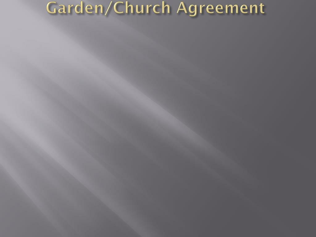Garden/Church Agreement