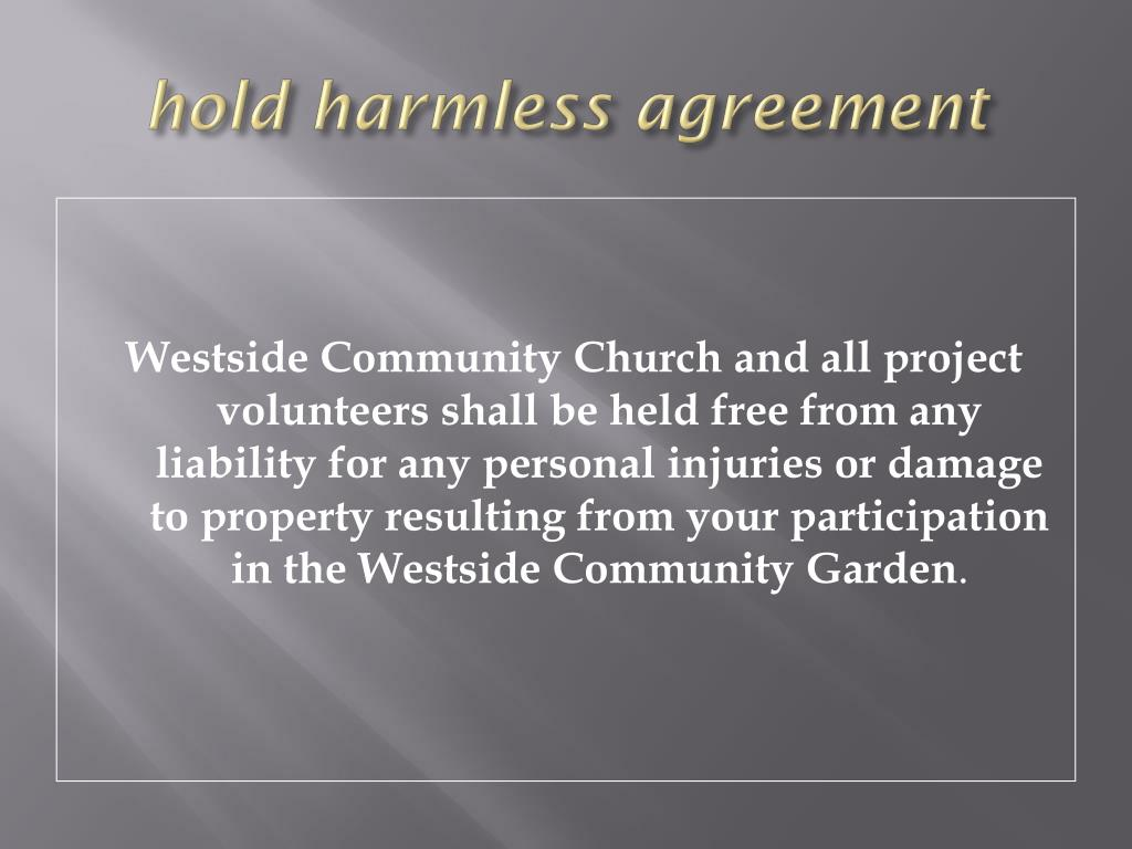 hold harmless agreement