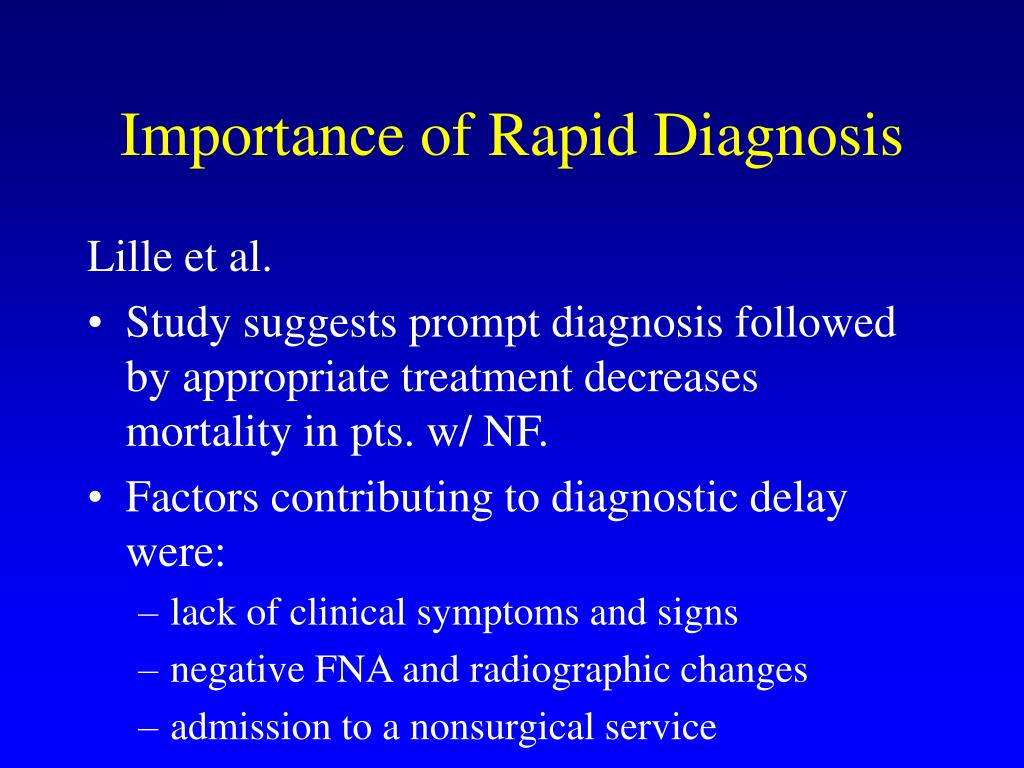 Importance of Rapid Diagnosis