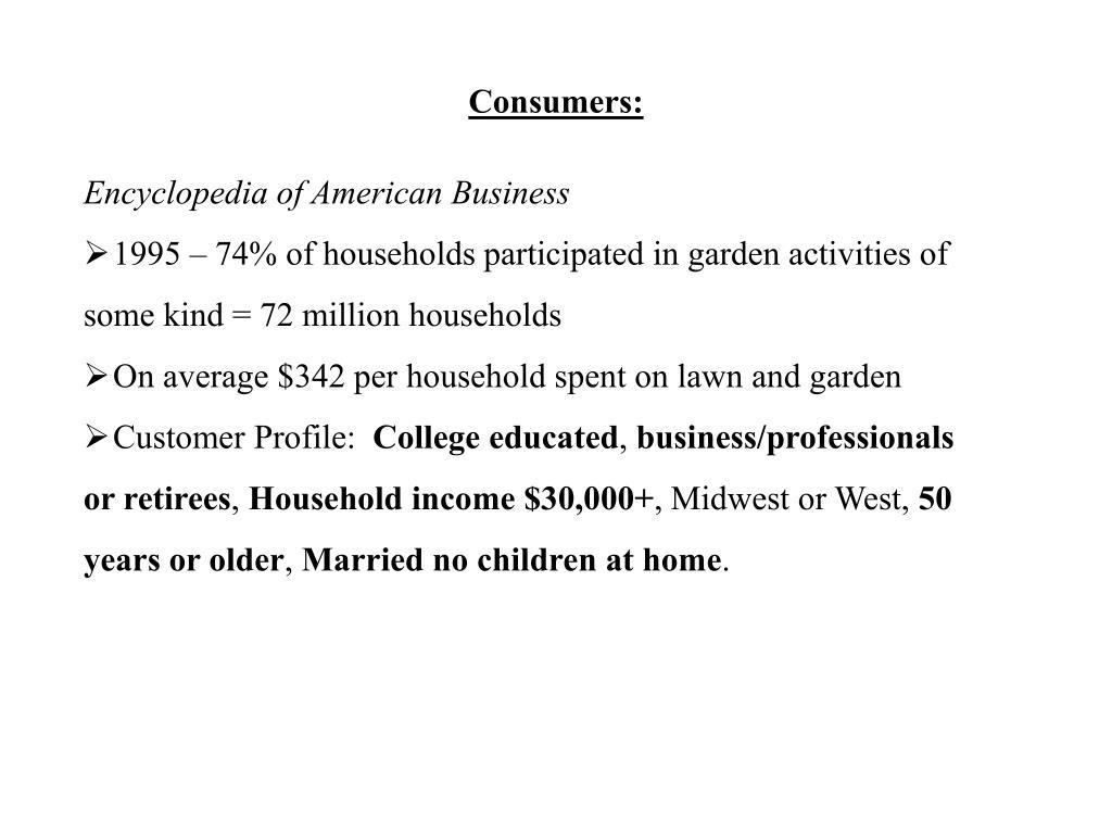 Consumers: